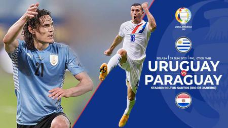 Berikut link live streaming pertandingan pamungkas Grup A Copa America 2021 antara Uruguay vs Paraguay. - INDOSPORT