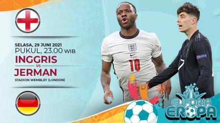 Link Live Streaming Pertandingan Babak 16 Besar Euro 2020: Inggris vs Jerman. - INDOSPORT