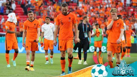 Euro 2020: Pemain Belanda Tertunduk Lesu - INDOSPORT