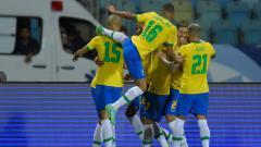 Indosport - Berikut hasil pertandingan Kualifikasi Piala Dunia 2022 zona CONMEBOL antara tuan rumah timnas Brasil vs Uruguay pada Jumat (15/10/21) pagi WIB.