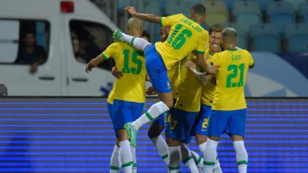 Berikut hasil pertandingan Kualifikasi Piala Dunia 2022 zona CONMEBOL antara tuan rumah timnas Brasil vs Uruguay pada Jumat (15/10/21) pagi WIB. - INDOSPORT