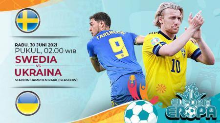 Link Live Streaming Pertandingan Babak 16 Besar Euro 2020: Swedia vs Ukraina. - INDOSPORT