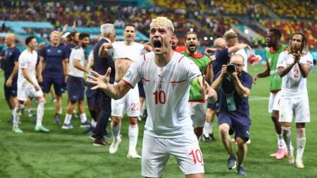 Timnas Swiss di Euro 2020. - INDOSPORT