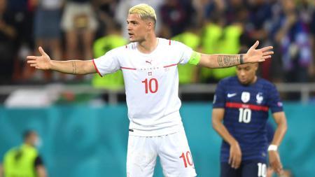 Gelandang bertahan Asenal dan tim nasional Swiss, Granit Xhaka. - INDOSPORT