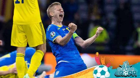 Man of the Match Euro dari Timnas Ukraina, Oleksandr Zinchenko. - INDOSPORT