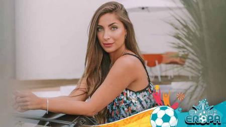 Sara Botello, kekasih Aymeric Laporte. - INDOSPORT
