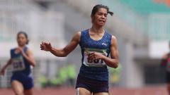 Indosport - Alvin Tehupeiory, sprinter wanita Indonesia.