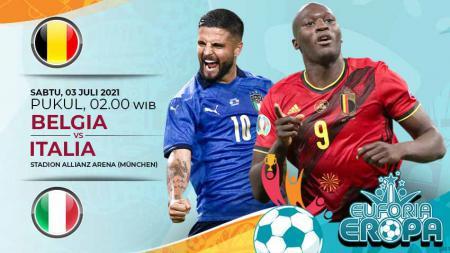 Belgia akan bertemu Italia di perempat final Euro 2020, Sabtu (03/07/21). Seperti apa starting XI mengerikan yang terbentuk jika kedua tim digabungkan? - INDOSPORT