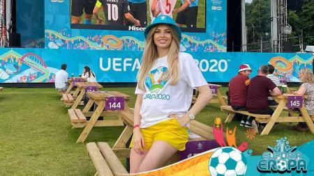 Vlada Sedan, WAG's Ukraina di Euro 2020. - INDOSPORT