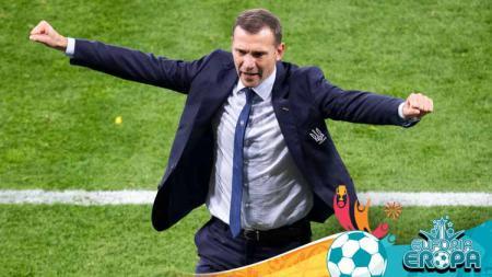 Andriy Shevchenko, saat memimpin timnas Ukraina di pergelaran Euro 2020. - INDOSPORT