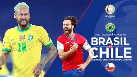 Berikut link live streaming pertandingan babak perempatfinal Copa America 2021 antara Brasil vs Chile. - INDOSPORT