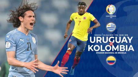 Pertandingan antara Uruguay vs Kolombia (Copa Amerika). - INDOSPORT