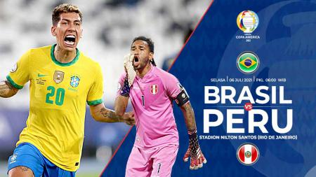 Pertandingan antara Brasil vs Peru (Copa Amerika). - INDOSPORT