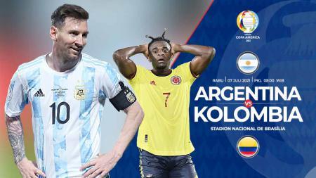 Pertandingan antara Argentina vs Kolombia (Copa Amerika). - INDOSPORT
