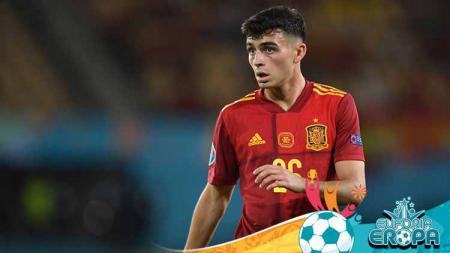 Pedri, pemain Timnas Spanyol di Euro 2020. - INDOSPORT