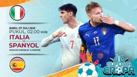 Prediksi semifinal Euro 2020 Italia vs Spanyol. - INDOSPORT