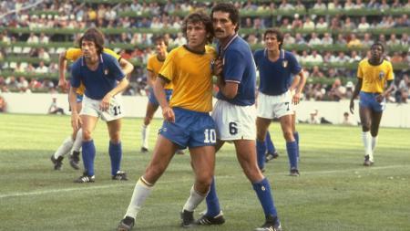 Pemandangan pertandingan Piala Dunia antara Italia versus Brasil, 5 Juli 1982. - INDOSPORT
