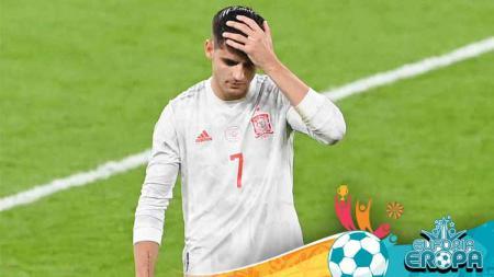 Gagal mencetak gol di adu penalti saat Spanyol disingkirkan Italia di Euro 2020, Alvaro Morata akhirnya angkat bicara. Namun, ia sama sekali tak meminta maaf. - INDOSPORT