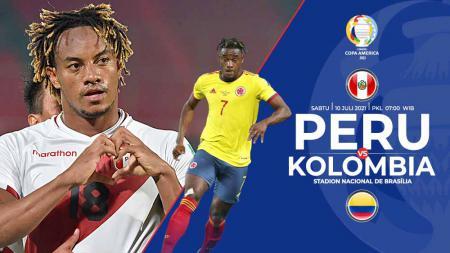 Pertandingan antara Peru vs Kolombia (Copa Amerika). - INDOSPORT