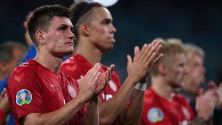 Skuad Denmark usai kalah dari Inggris - INDOSPORT