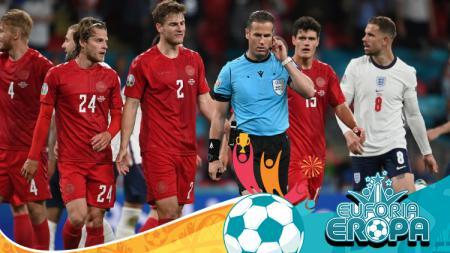 Wasit di laga Euro 2020 Inggris vs Denmark - INDOSPORT