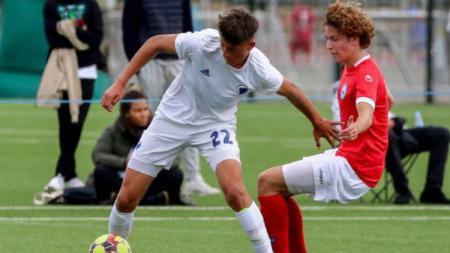 Silas Andersen, wonderkid Denmark incaran Inter Milan (kiri). - INDOSPORT