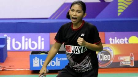 Atlet bulutangkis Indonesia, Tasya Farahnailah. - INDOSPORT