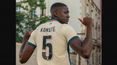 Indosport - Ibrahima Konate gunakan nomor punggung Daniel Agger di Liverpool.