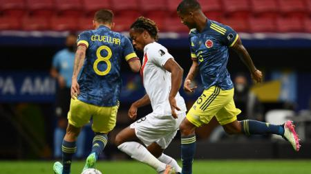 Duel perebutan tempat ketiga Copa America 2021 antara Kolombia vs Peru. - INDOSPORT