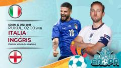 Indosport - Pertandingan antara Italia vs Inggris (Euforia Eropa).