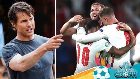 Tom Cruise, Aktor asal Amerika Serikat mendukung Timnas Inggris di Euro 2020. - INDOSPORT