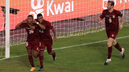 Selebrasi Pemain Ekuador Usai Cetak Gol di Copa America 2021 - INDOSPORT