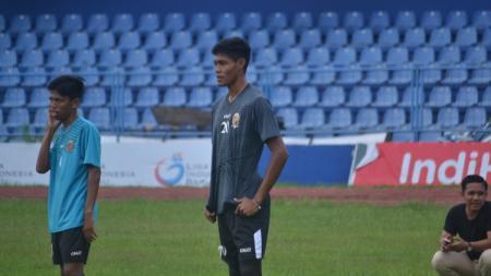 Kiper muda Sriwijaya FC, Rudi Nurdin. - INDOSPORT