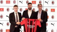 Indosport - Olivier Giroud Resmi ke AC Milan