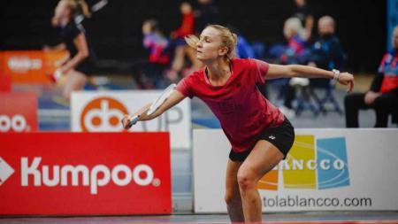Laura Sarosi, pebulutangkis cantik Hungaria didikan pelatih Indonesia di Olimpiade Tokyo 2020. - INDOSPORT