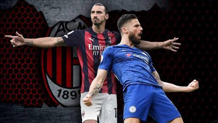 Ingin mewujudkan duet Zlatan Ibrahimovic - Olivier Giroud, klub AC Milan asuhan Stefano Pioli pun harus mengutak-atik formasi mereka. - INDOSPORT