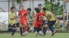 Indosport - PSM Makassar menggelar uji coba sebagai pramusim Liga 1.