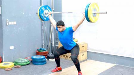 Mohammad Hamada, Lifter asal Palestina di Olimpiade Tokyo 2020. - INDOSPORT