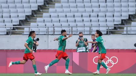 Pertandingan perdana Grup A cabang olahraga sepak bola putra Olimpiade Tokyo 2020 antara timnas Meksiko vs Prancis. - INDOSPORT