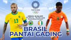 Indosport - Tidak ada pemenang dalam lanjutan pertandingan Grup D Olimpiade Tokyo 2020 yang mempertemukan Brasil dengan Pantai Gading.