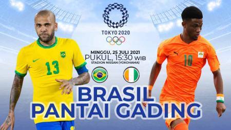 Link Live Streaming Sepak Bola Putra Olimpiade Tokyo 2020: Brasil vs Pantai Gading. - INDOSPORT