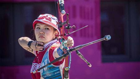 Svetlana Gomboeva, pemanah puteri asal Rusia. - INDOSPORT