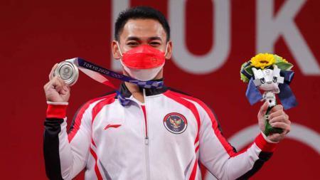 Lifter Indonesia, Eko Yuli Irawan di Olimpiade Tokyo 2020. - INDOSPORT