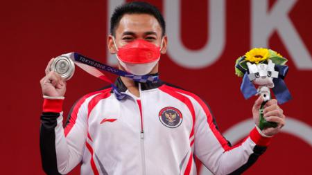 Lifter Indonesia, Eko Yuli di Olimpiade Tokyo 2020. - INDOSPORT