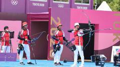 Indosport - Tim panahan Indonesia di Olimpiade Tokyo 2020.