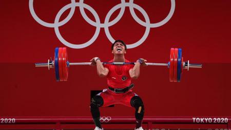 Lifter Indonesia, Deni, di Olimpiade Tokyo 2020/ - INDOSPORT