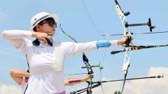 Indosport - Anggota tim panahan putri Korea Selatan, An San.