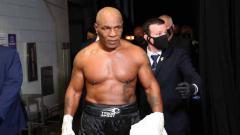 Indosport - Mike Tyson, eks petinju kelas berat.