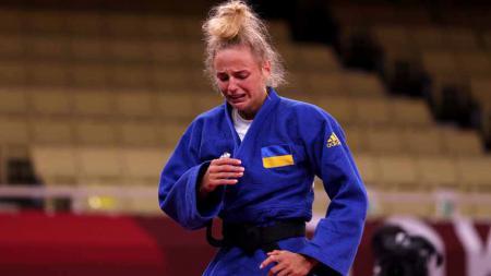 Daria Bilodid, Judoka asal Ukraina peraih medali perunggu di Olimpiade Tokyo 2020. - INDOSPORT