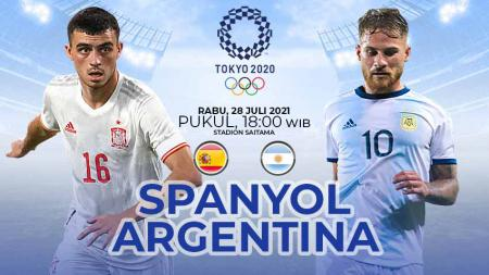 Berikut link live streaming pertandingan lanjutan Grup C cabang olahraga sepak bola Olimpiade Tokyo 2020 antara Spanyol vs Argentina pada Rabu (28/7/21) - INDOSPORT